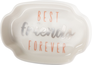 "Best Friends by Best Kept Trinkets - 4"" Trinket Dish"