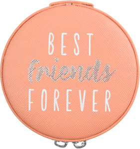 "Best Friends by Best Kept Trinkets - 3.5"" Zippered Jewelry Case"
