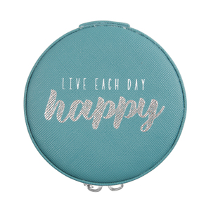 "Happy by Best Kept Trinkets - 3.5"" Zippered Jewelry Case"