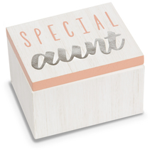 Aunt by Best Kept Trinkets - 2.25 x 1.2 x 1.5 MDF Trinket  Box