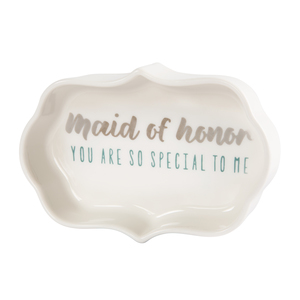 "Maid of Honor by Best Kept Trinkets - 4"" Trinket Dish"