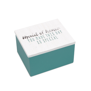 Maid of Honor by Best Kept Trinkets - 2.25 x 2 x 1.5 MDF Trinket  Box
