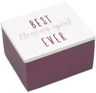 Flower Girl by Best Kept Trinkets - 2.25 x 2 x 1.5 MDF Trinket  Box