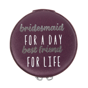 "Bridesmaid by Best Kept Trinkets - 3.5"" Zippered Jewelry Case"