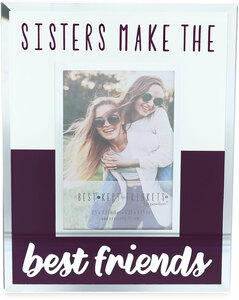 "Sisters by Best Kept Trinkets - 4.75"" X 6"" Frame (Holds a 2.5"" X 3.5"" Photo)"