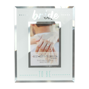 "Bride by Best Kept Trinkets - 4.75"" X 6"" Frame (Holds a 2.5"" X 3.5"" Photo)"