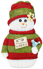 "Peace on Earth by The Sockings - 5"" Snowman with Bird"