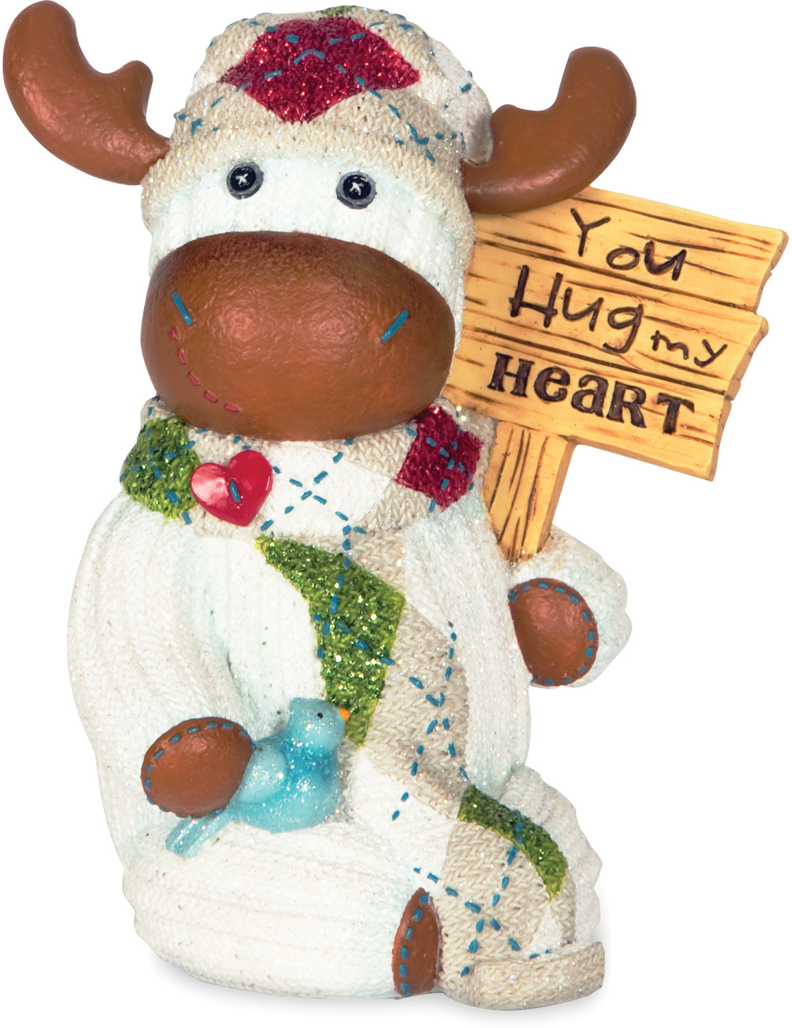 "You Hug My Heart by The Sockings - You Hug My Heart - 4"" Moose with Sign"