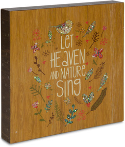 "Heaven and Nature Sing by Star of Wonder - 10"" x 10"" Plaque"