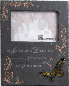 "Joys of a Lifetime Mosaic by Fragments - 8""x10"" Slate Photo Frame 4x6"
