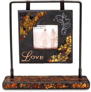 "Love Photo Frame by Fragments - 8.25"" (Holds 2.7""x2.7""photo)"