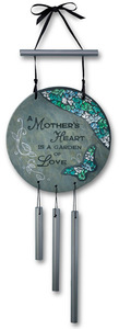 "A Mother's Heart by Fragments - 7"" Slate w/Mosaic Windchime"