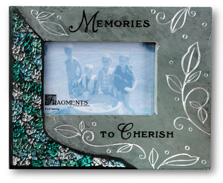 "Memories by Fragments - 10""x8"" Slate Photo Frame"