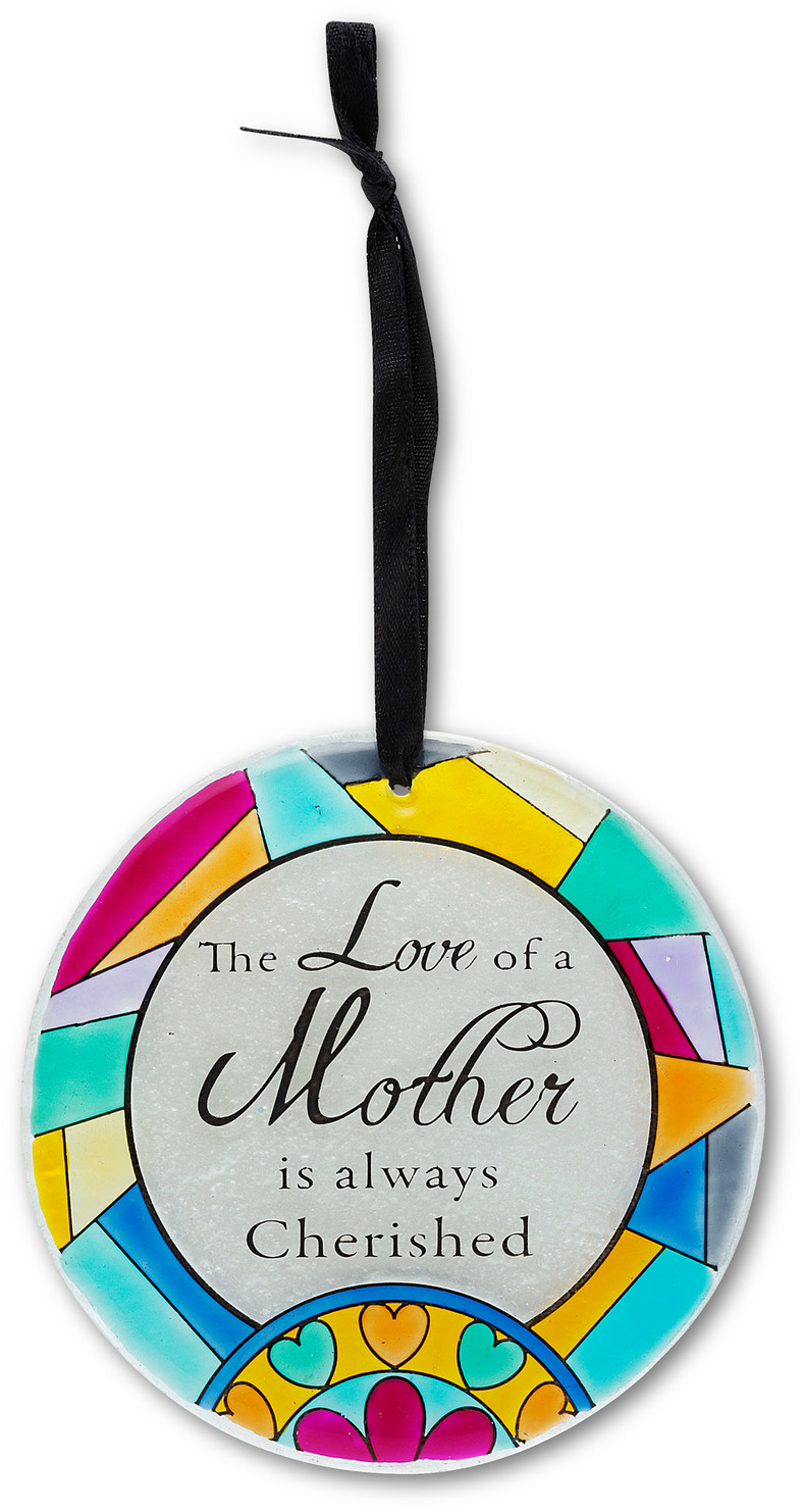 "Mother by Shine on Me - Mother - 4"" Glass Ornament"