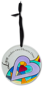 "Love by Shine on Me - 4"" Dia. Glass Ornament"
