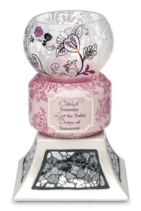 "Cherish, Live, Dream by UpWords - 5.5"" Tea Light Holder"