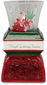"Friend by UpWords - 5.5"" Holiday TeaLight Holder"