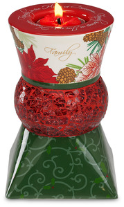 "Family by UpWords - 5.5"" Holiday TeaLight Holder"