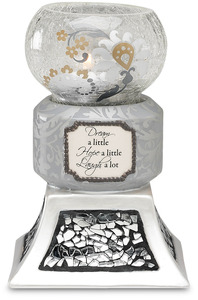 "Dream, Hope, Laugh by UpWords - 5.5"" Tea Light Holder"