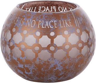 "Love Lives Here Bronze by Candle Decor - 5"" Round Votive Holder"