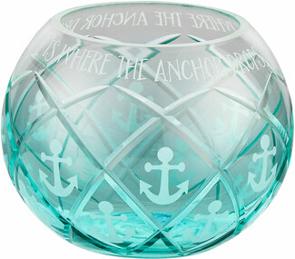 "Anchors Away by Candle Decor - 5"" Round Votive Holder"