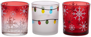 Holiday Hoopla by Candle Decor - 3 Assorted Tealight Holders