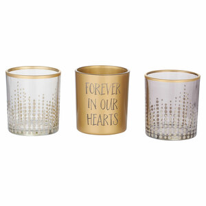Forever in our Hearts by Candle Decor - 3 Assorted Votive Holders