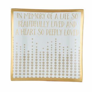 Forever in our Hearts by Candle Decor - Square Plate