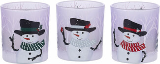Snowman by Candle Decor - 3 Assorted Votive Holders