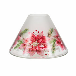 Poinsettia by Candle Decor - Large Candle Shade