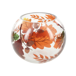 "Harvest Leaves by Candle Decor - 5"" Round Votive Holder"