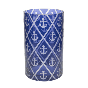Blue Anchor by Candle Decor - Jar Candle Holder