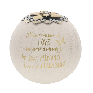 "Memory by Forever in our Hearts - 5"" Round Tea Light Candle Holder"