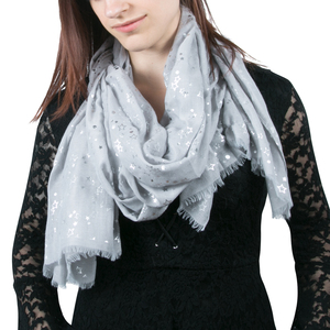 "Star Gray by Forever in our Hearts - 27.5"" x 71"" In Memory Scarf"