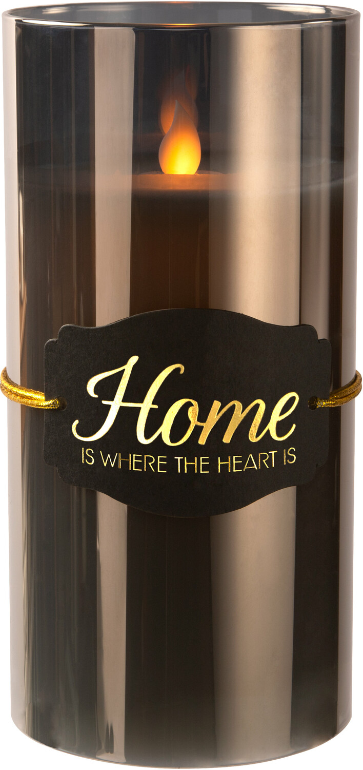 "The Heart by Candle Decor - The Heart - 7"" Smoke Luster Realistic Flame Candle"