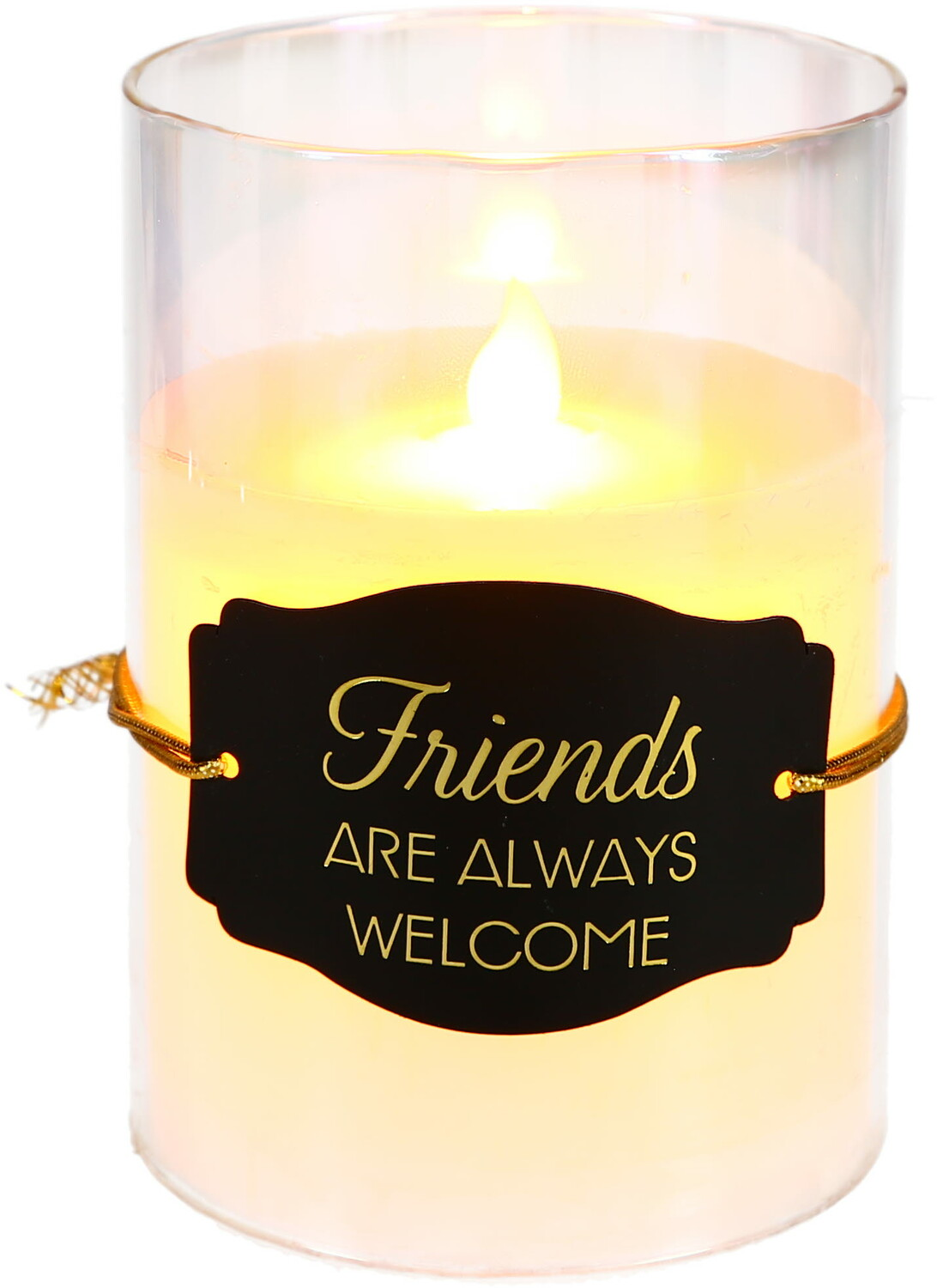 "Friends by Candle Decor - Friends - 5"" Clear Luster Realistic Flame Candle"
