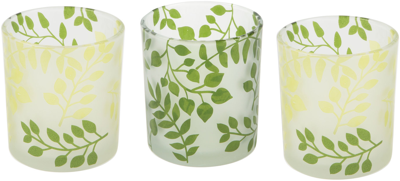 Green Fern by Candle Decor - Green Fern - 3 Assorted Votive Holders