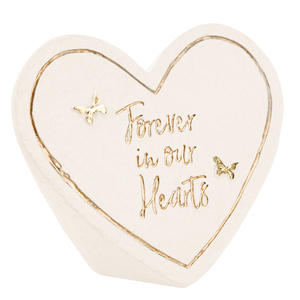 "Forever by Forever in our Hearts - 3.5"" x 3"" Heart Memorial Stone"