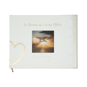 "Mother by Forever in our Hearts - 9"" x 7"" Memorial Guest Book"