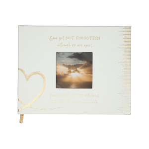 "Forever in our Hearts by Forever in our Hearts - 9"" x 7"" Memorial Guest Book"