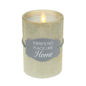 "Home by Candle Decor - 4.75"" Gold Glitter Realistic Flame Candle"