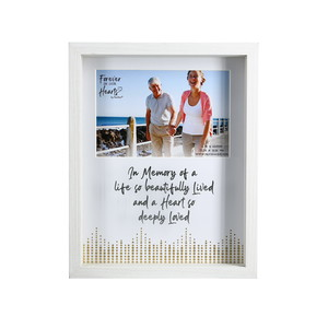 "Memory by Forever in our Hearts - 7.5"" x 9.5"" Shadow Box Frame (Holds 6"" x 4"" Photo)"