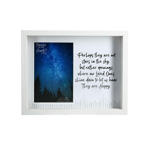 "Stars by Forever in our Hearts - 9.5"" x 7.5"" Shadow Box Frame (Holds 4"" x 6"" Photo)"