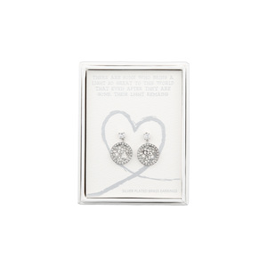 Light by Forever in our Hearts - Silver Star Dangle Earrings