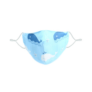 Whales by Pavilion Cares - Kid's Reusable 100% Cotton Fabric Mask & PM 2.5 Filter Set