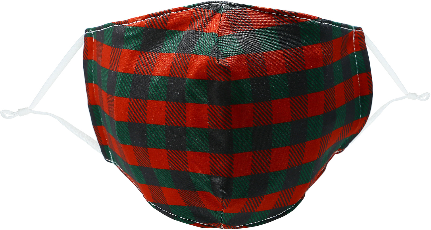 Holiday Plaid by Pavilion Cares - Holiday Plaid - Adult Reusable Fabric Mask