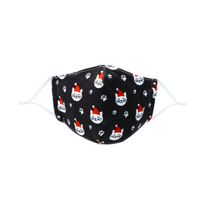 Santa Cat by Pavilion Cares - Kid's Reusable Fabric Mask
