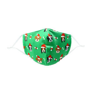 Santa Dog by Pavilion Cares - Kid's Reusable Fabric Mask