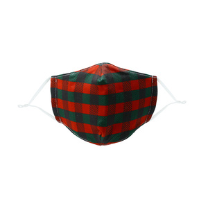 Holiday Plaid by Pavilion Cares - Kid's Reusable Fabric Mask