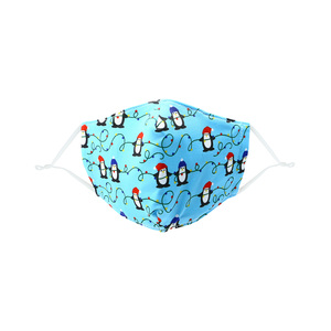 Penguins & Lights by Pavilion Cares - Kid's Reusable Fabric Mask